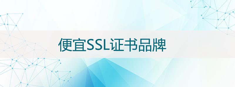 性价比高的/便宜SSL证书品牌有哪些?